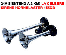 24V! TROMPE HORNBLASTER 2 TROMPES PUISSANCE 155db!!! CAMPING CAR RV CAMION 4X4