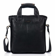 Men's Leather Briefcase Attache Case Cross-Body Handbag Messenger Shoulder Bag