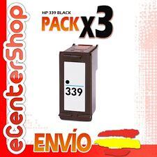 3 Cartuchos Tinta Negra / Negro HP 339 Reman HP Photosmart 2575