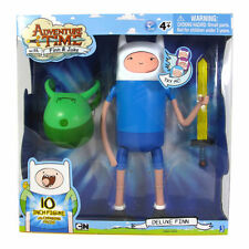 "Adventure Time Large 10"" Deluxe Face Changing FINN Posable Figure Jazwares NEW"