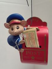 Hallmark 1993 It'S In The Mail Keepsake Ornament Collector's Club Mouse Post Box