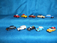 Minature Porcelain Classic CITROEN CARS Set of 10 Mini Figurines FRENCH FEVES