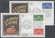 FRANCE FDC - S85 86 87 1 CONSEIL DE L'EUROPE - STRASBOURG 31 Aout 1985-LUXE soie