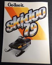 """1979 Ski-Doo Snowmobile Sales Brochure Opens To Poster Size 22"""" X 16"""" (216)"""