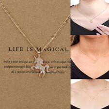 Fashion Women Unicorn Pendants Clavicle Chains Choker Necklaces Jewelry Gift