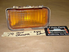 OEM 79 Chevy Chevette RIGHT PASS SIDE BUMPER TURN SIGNAL PARK MARKER LIGHT AMBER
