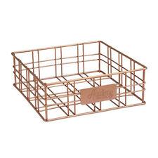 100 Genuine Academy Orwell Copper Finish Square Basket Napkin Holder 20x20x7cm