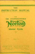 1934 Insruction Manual For Norton Motor Cycle Fully Illustrated Combinerd Sh