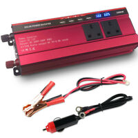 2000W 4000W Caravan Converter Power Inverter DC 12V to AC 230V 240V 4 USB 2 LED