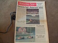 Motoring News 12 September 1974 Italian GP Fiat 132 Cilwendeg & Hackle Rally