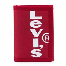 9b5fa014c0 Portafoglio Borsellino Portamonete Levi's Tela Trifold Rosso Red Tab Wallet