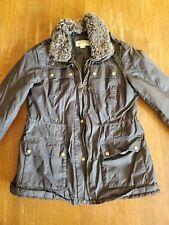 Look Brown Michael Kors Light Weight Faux Fur Collar Jacket