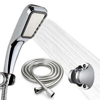 AU_ IC- KQ_ FT- 300Holes High Pressure Handheld Shower  Water Saving with Ho
