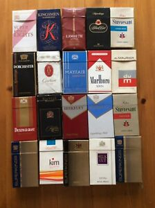 20 ASSORTED SUPERKING CIGARETTE PACKS EMPTY