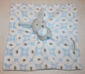 Blankets & Beyond blue/gray rabbit lovey security blanket