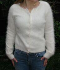 "Ladies/Girls Gorgeous White Classic Fluffy Soft Angora Cardigan>S>32"">£24.99"
