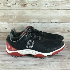 Footjoy Hyperflex Junior Youth Size 3 Black Red Low Top Soft Spikes Golf Shoes