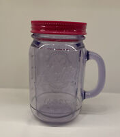 PINK ALADDIN PLASTIC MASON INSULATED JAR TUMBLER 16 OZ WITH LID (no Straw). Used