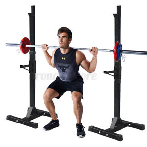 Adjustable Squat Rack Bench Press Power Weight Rack Lifting Barbell Stand Home