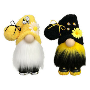 World Bee Day Gnome Nordic Gonk Tomte Sunflowers Swedish Plush Doll Ornament