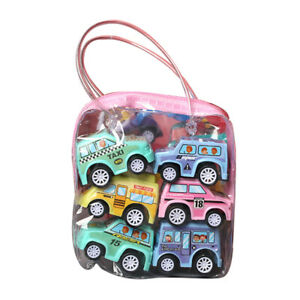 6Pcs/Set Toy Cars Gifts Pull Back and Go Vehicles for Baby Kids 1/2/3 Years Toy