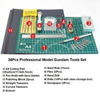 36Pcs/Set Professional Model Gundam Basic Tools Kit Modeler Hobby Building Craft