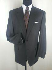 Canali Vintage Suit Super 120'S Wool 2 Btn No Vents Us Size 44 Long
