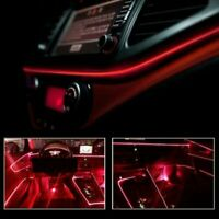 Red LED Auto Car Interior Decor Atmosphere Wire Strip Light Lamp Accessories 12V