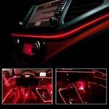 Red Led Auto Car Interior Decor Atmosphere Wire Strip Light Lamp Accessories 12V (Fits: Peugeot)