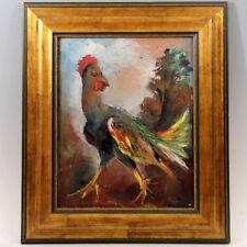 Jean-François THOMAS (1894-1939) ◊ Le coq Peinture à l'huile signée