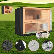 Black Rabbit Hutch Cover Weather Rain Waterproof Heavy Duty Pig Pet without Cage