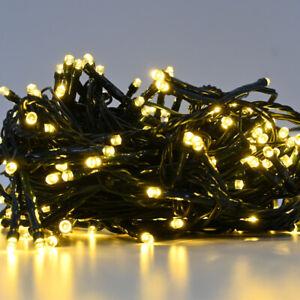 Weihnachtsbaum Lichterkette 204 LED Innen und Außen Party warmweiß 16 m Licht