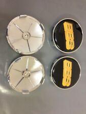 4PCS Gold Logo Black Wheel Center Hub Caps Badge For BBS Face 68mm Clip 65mm