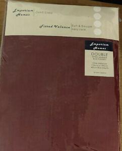 Luxury Plain Dyed Poly Cotton Box Plated valance sheet Single, Double, King