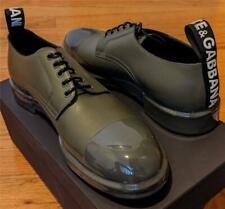 $1145 Mens Dolce Gabbana Summer Calfskin Leather Derby Shoes Green 43 US 10