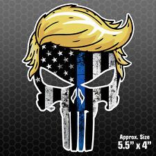 Trump Punisher Thin Blue Line Sticker Car Truck Vinyl Decal Hair Maga Pl1009