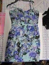 Jessica Simpson Blue Floral Lined Sundress, Size XL, NWOT