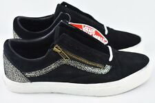 9357f78166 Vans Old Skool Zip Gold Black Mens Size 7.5 Skate Shoes Womens Size 9