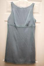 CATALYST New York Sleeveless Empire Waist BLUE Cocktail Sheath DRESS 12 NWOT