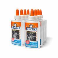 Elmer's Liquid School Glue, Clear, Washable, 5 Ounces, 8 Count