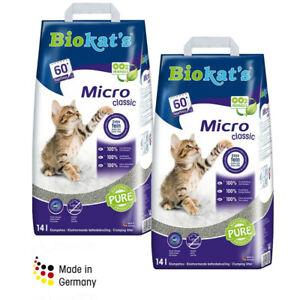 Economy Pack: 2 x 14l Biokat's Micro Classic Cat Litter 300% Absorbency