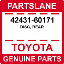 42431-60171 Toyota OEM Genuine DISC, REAR