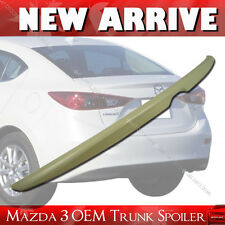 Unpainted MAZDA 3 OE ABS Trunk Boot Spoiler Rear Wing 14-16 4DR Sedan §