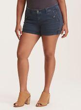 TORRID Military Short Shorts-Navy Wash (Size 24) NWT