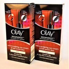 2-PACK - Olay Regenerist Micro-Sculpting Eye Cream And Lash Serum Duo EYE Kit