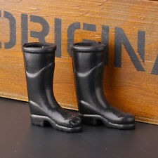 Dollhouse Miniature Rubber Rain Boots Home Furniture Housework Acces Black Prof