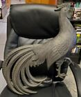 """Vintage Rare 1969 Syroco Rooster Wall Hanging Plaque Large 35""""X 20"""" Huge Black"""