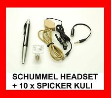 SCHUMMEL HEADSET mit 10 x SPICKER KULI - SPION HÖRMUSCHEL- PERFEKT FÜR STUDENTEN