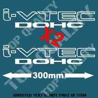 iVTEC DOHC DECAL STICKER X 2 FOR HONDA VTEC INTEGRA DRIFT JDM DECALS STICKERS
