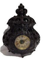 Antique A. L. Swift, Deemer Mfg Co., Cast Iron Shelf or Mantle Alarm Clock, USA